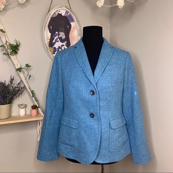 Talbots blue wool blend blazer